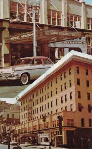 Street views showing Aragon Hotel , JACKSONVILLE , Florida , 40-60s