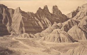 View Of Bedlands The Badlands Nat Monument South Dakota Albertype