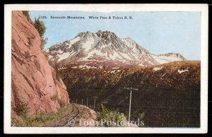 Sawtooth Mountains. White Pass & Yukon R. R.