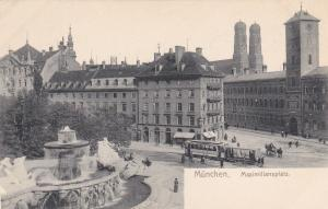 MUNCHEN, Bavaria, Germany, 1900-1910's; Maximiliansplatz