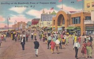 New Jersey Atlantic City Strolling On the Boardwalk Front Of Try More Hotel