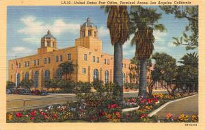 U.S. Post Office, Terminal Annex, Los Angeles, California, Postcard, Unused