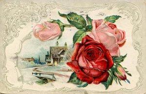 Greeting -  General, Floral       (embossed)