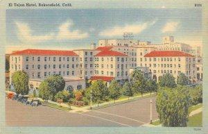 EL TEJON HOTEL Bakersfield, California c1940s Linen Vintage Postcard