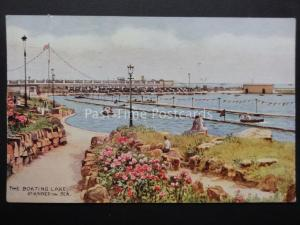 Lancashire: St. Annes on Sea, THE BOATING LAKE c1950 by J.Salmon No.4149