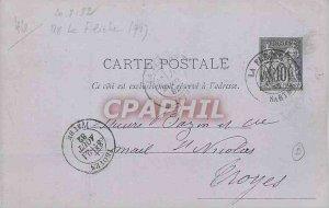 Entier Postal Sage 10c La Fleche 1882 to Troyes