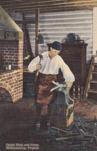 Blacksmith ; Deane shop & Forge , Williamsburg , Virginia , 30-40s