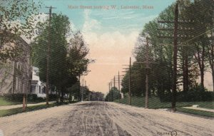 Massachusetts Leicester Main Street Looking West sk681