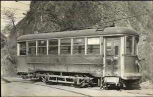 RR Trolley Car - Unidentified Real Photo Postcard - Crisp Image