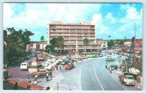 BRIDGETOWN, BARBADOS, West Indies ~ STREET SCENE ca 1960s  Postcard