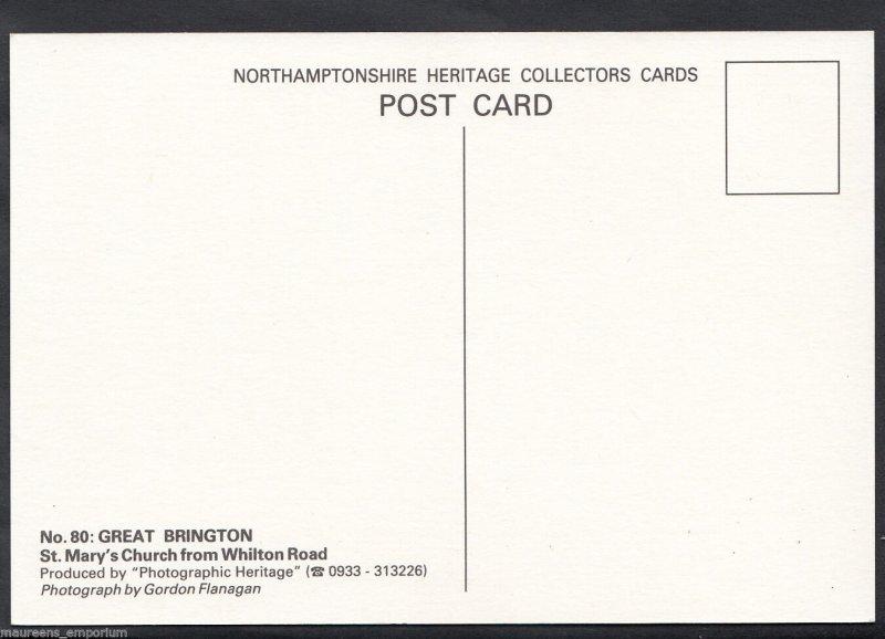 Northamptonshire Postcard - Great Brington - St Mary's Church   MB2389