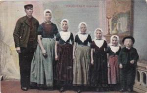 Netherlands Zeeland Walcheren Family In Traditional Costume