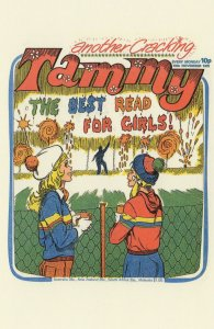 Street Art Graffiti Camera 1970s Tammy Girls Comic Book Postcard