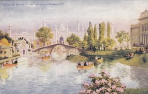 WEMBLEY, Middlesex, England, 1900-1910´s; The Lake, Boats, British Empire Ex...
