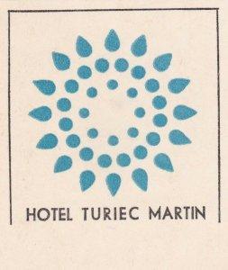 Czechoslovakia Hotel Turiec Martin Vintage Luggage Label sk4488