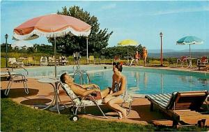 PA, Mount Pocono, Pennsylvania, Mount Pocono Motel, Pool, Planned Color 40742-B