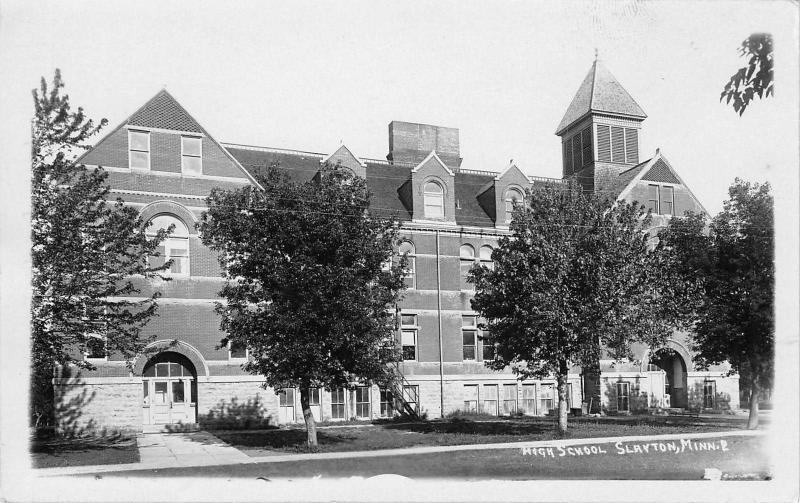 Slayton Minnesota~High School~1920 Real Photo Postcard~RPPC