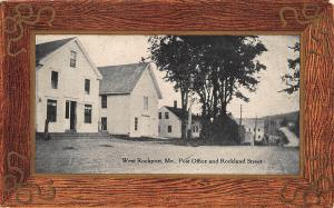 West Rockport ME Post Office Rockland Street Buildings, in 1910 Postcard