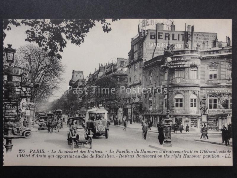 France PARIS Le Boulevard des Italiens LL.277 by Levy early 1900's
