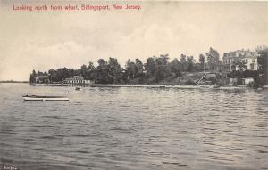 Billingsport New Jersey~Looking North from Wharf~Houses on Shore~c1910 B&W PC