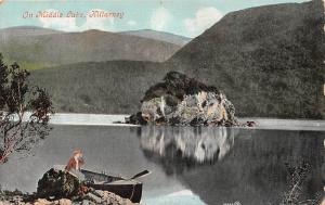 Ireland Killarney On Middle Lake Fancy Fashion Woman Lady Boat Nature 1912