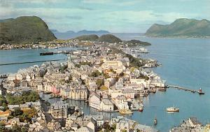 Norway Old Vintage Antique Post Card Fishing Village on North Coast Alesund U...