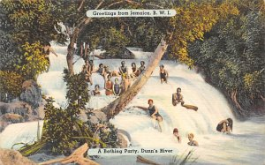 Jamaica, Jamaique Post card Old Vintage Antique Postcard A Bathing Party, Dun...