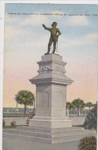 Florida St Augustine Ponce De Leon Statue Anderson Circle St Augustine