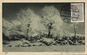 austria, INNSBRUCK, Blick auf Rumerspitze und Bettelwurf (1924) Stamp