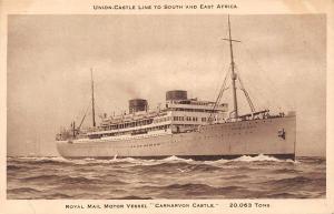 Royal Mail Motor Vessel Carnarvon Castle 20.063 tons Ship