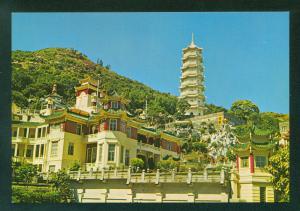 View of Tiger Balm Gardens Hong Kong China Vintage Postcard