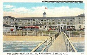 WRIGHTSVILLE BEACH, NC  North Carolina    OCEAN TERRACE HOTEL   c1940's Postcard