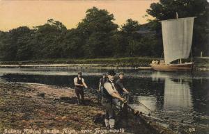Teignmouth , Devon , England , PU-1906 ; Salmon Fishing