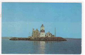 Execution Rocks Lighthouse Long Island Sound New York 1967 postcard