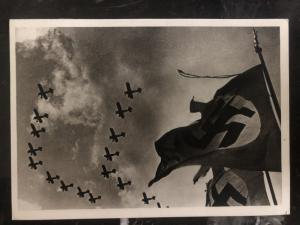 1939 Berlin Germany RPPC Postcard cover the flags are blowing
