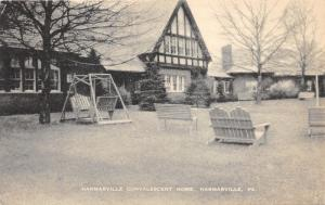 Harmarville Pennsylvania~Convalescent Home~Porch Swing-Seating @ Front Yard~'40s
