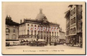 Aurillac Old Postcard L & # City 39hotel