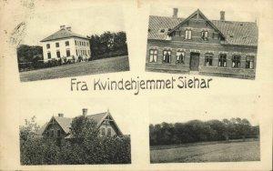 denmark, Fra Kvindehjemmet Siehar (1910) Postcard