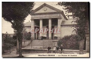 Old Postcard Courthouse Chateau Chinon