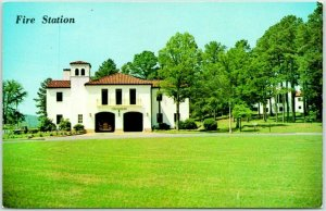 Anniston, Alabama Postcard FIRE STATION NO. 1 Fort McClellan Chrome c1950s