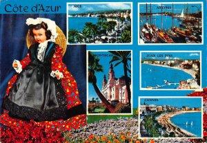 France Cote d'Azur Nice Antibes Cannes Juan les Pins Montecarlo Postcard