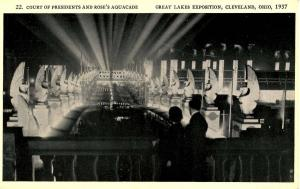 OH - Cleveland. Great Lakes Exposition, 1937. Court of Presidents and Rose's ...