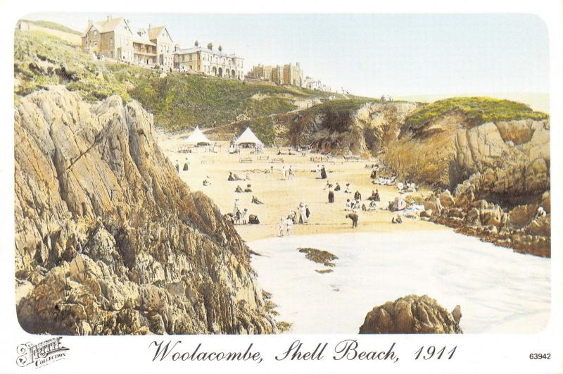 Woolacombe Shell Beach, 1911, Francis Frith Reproduction Postcard #590