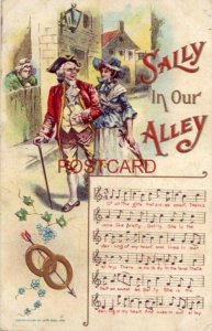 embossed SALLY IN OUR ALLEY words & music Cpyrt 1908 by Chas. Rose