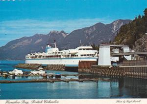 Ferry Boat at Horseshoe Bay, Panoramic Coastal Mountains in Background, Horse...