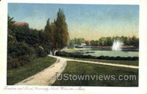 Fountain & Pond, University Park Worcester MA 1911