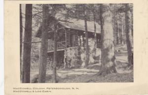 PETERBOROUGH, New Hampshire, 00-10s; MacDowell Colony, MacDowell's Log Cabin