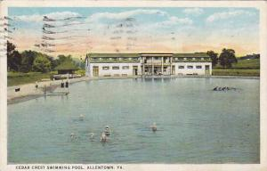 Cedar Crest Swimming Pool, Allentown, Pennsylvania, PU-1923