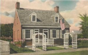 Dearborn MI~Barbara Fritchie House~Colonial Village~1920s Albertype Handcolored