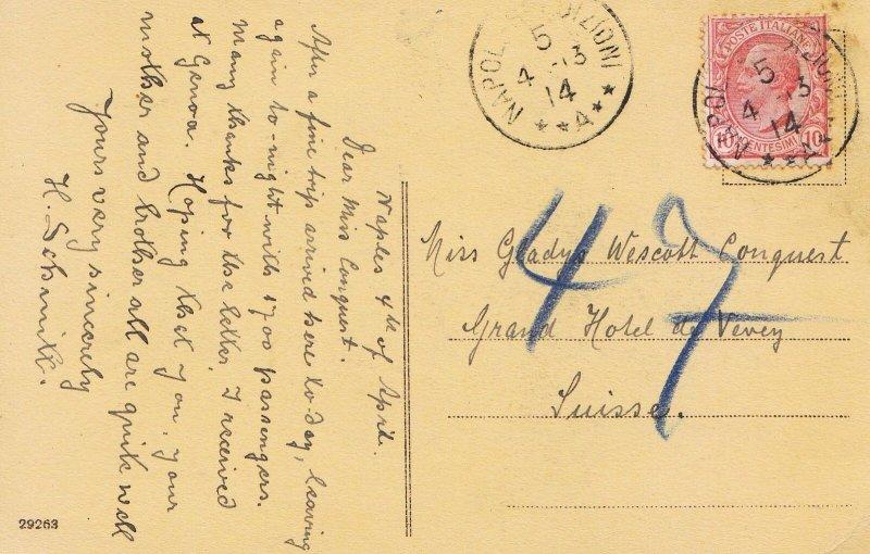 Family History Postcard - Conquest - Grand Hotel De Vevey - Suisse - Ref 1690A